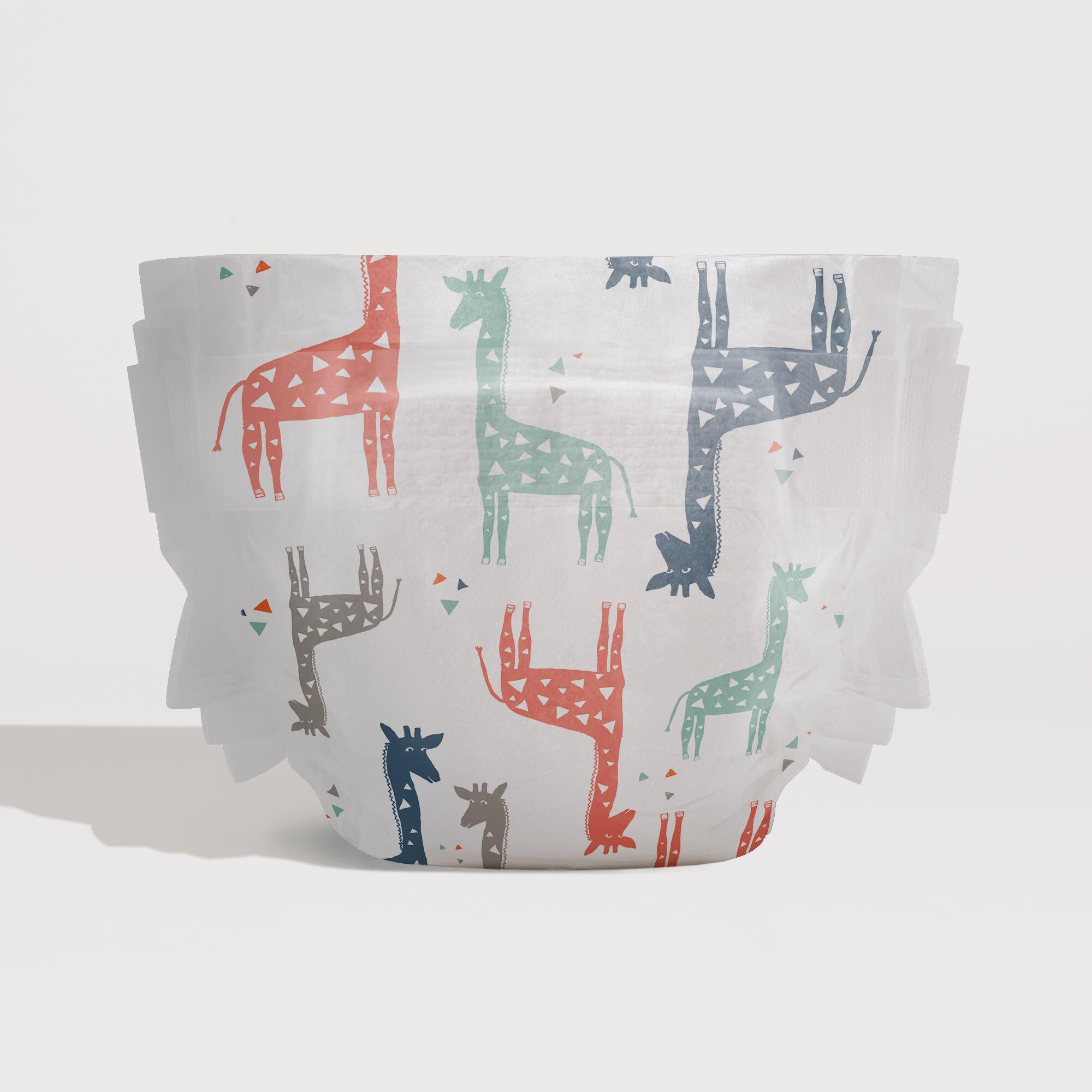 Diapers, Multicolor Giraffes, Size 4