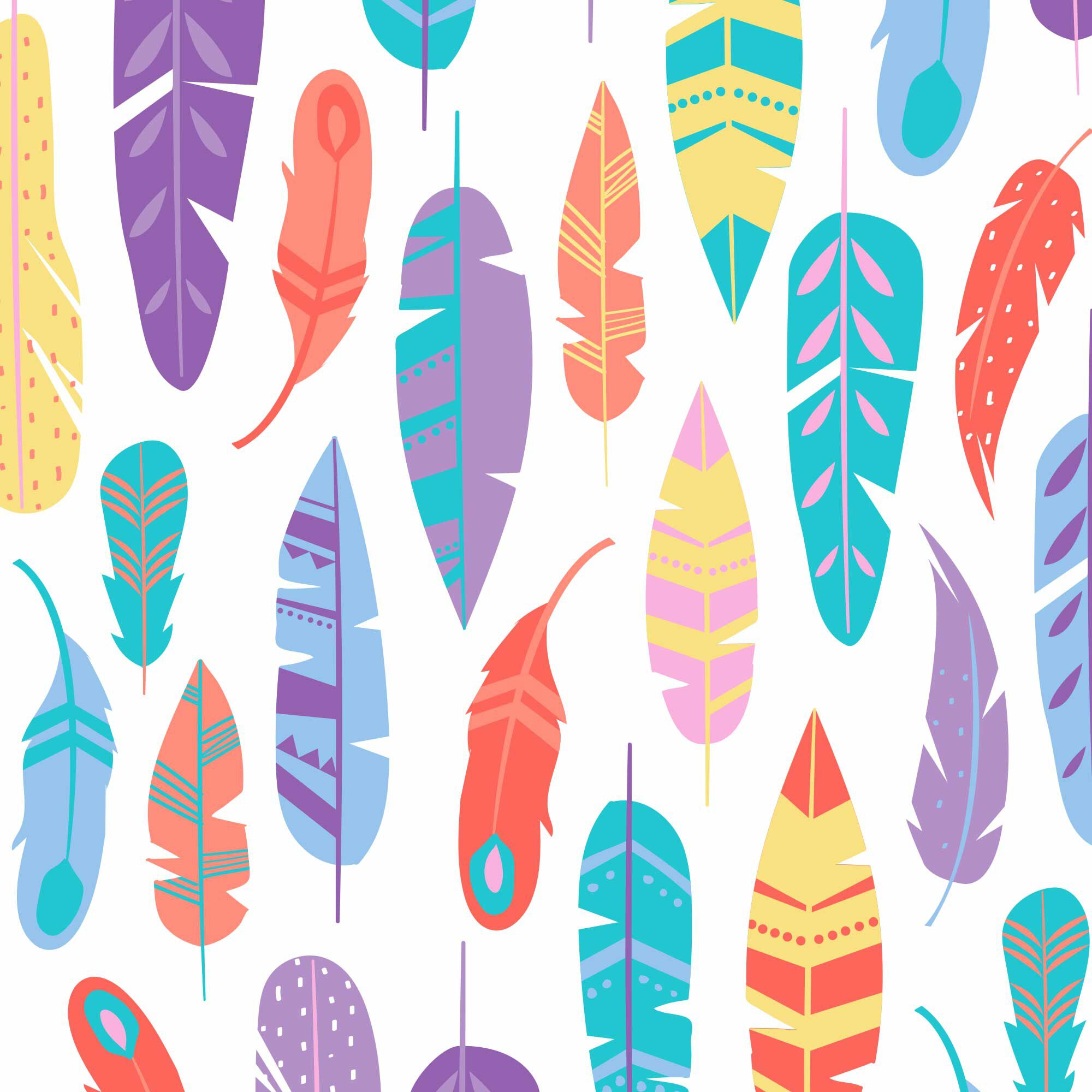 painted feathers print diaper swatch