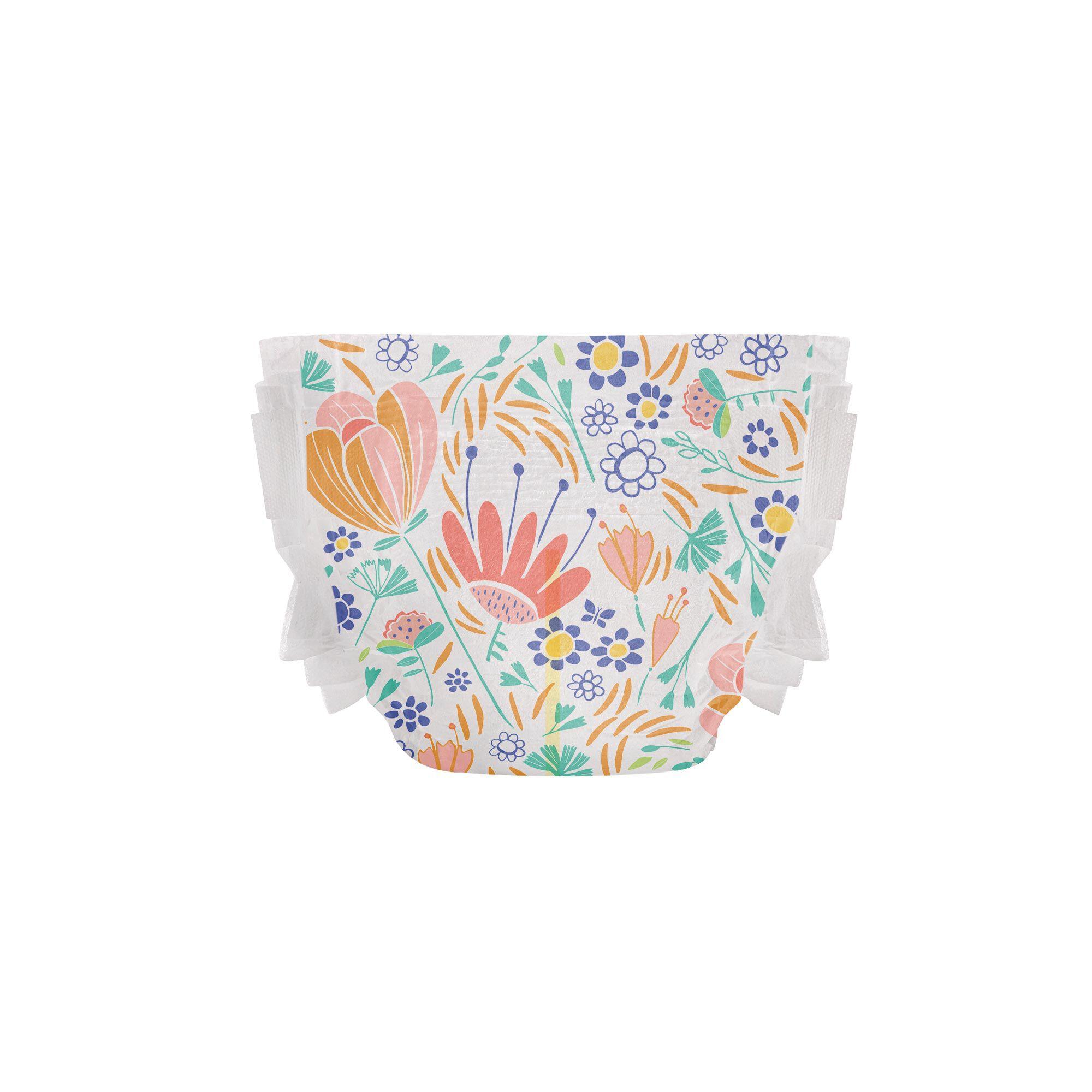 Clean Conscious Diaper, Flower Power, Size 4