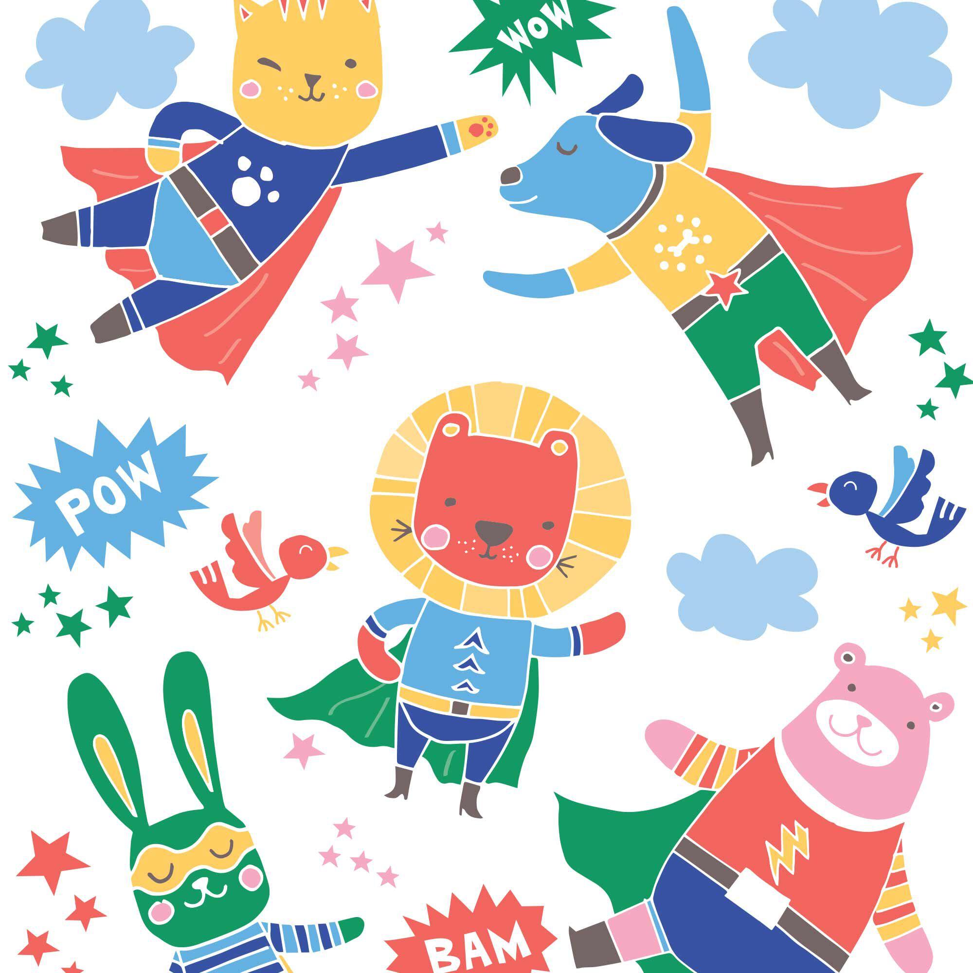 Super Heroes Print
