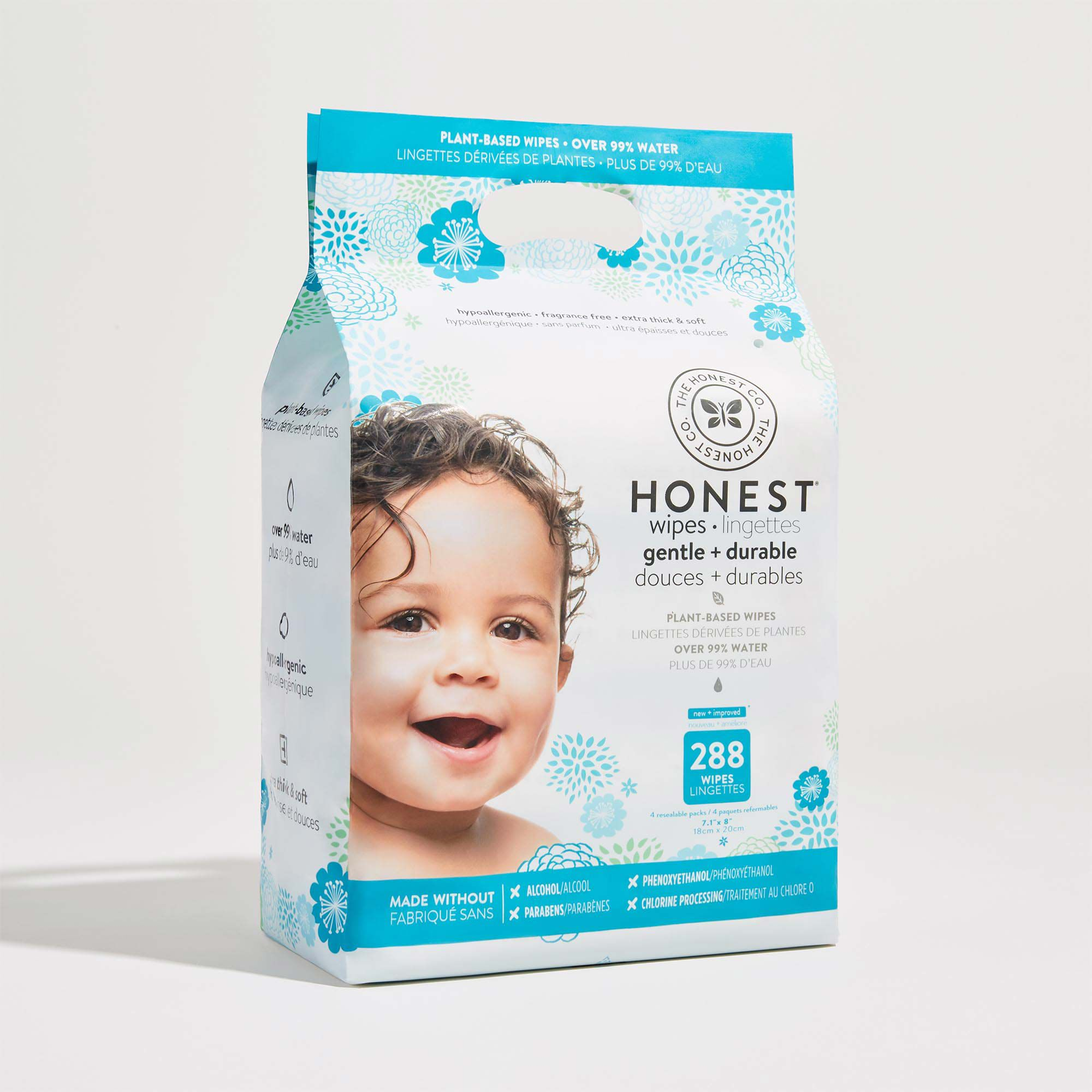 288 Count Baby Wipes, Classic Print