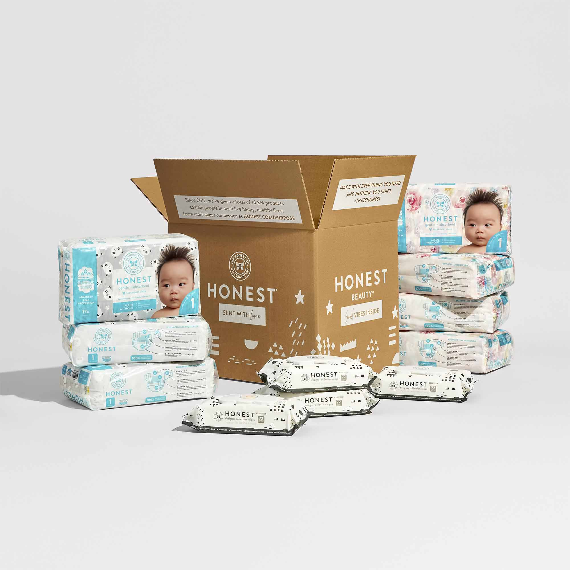 diapers and wipes bundle with pattern play wipes and box