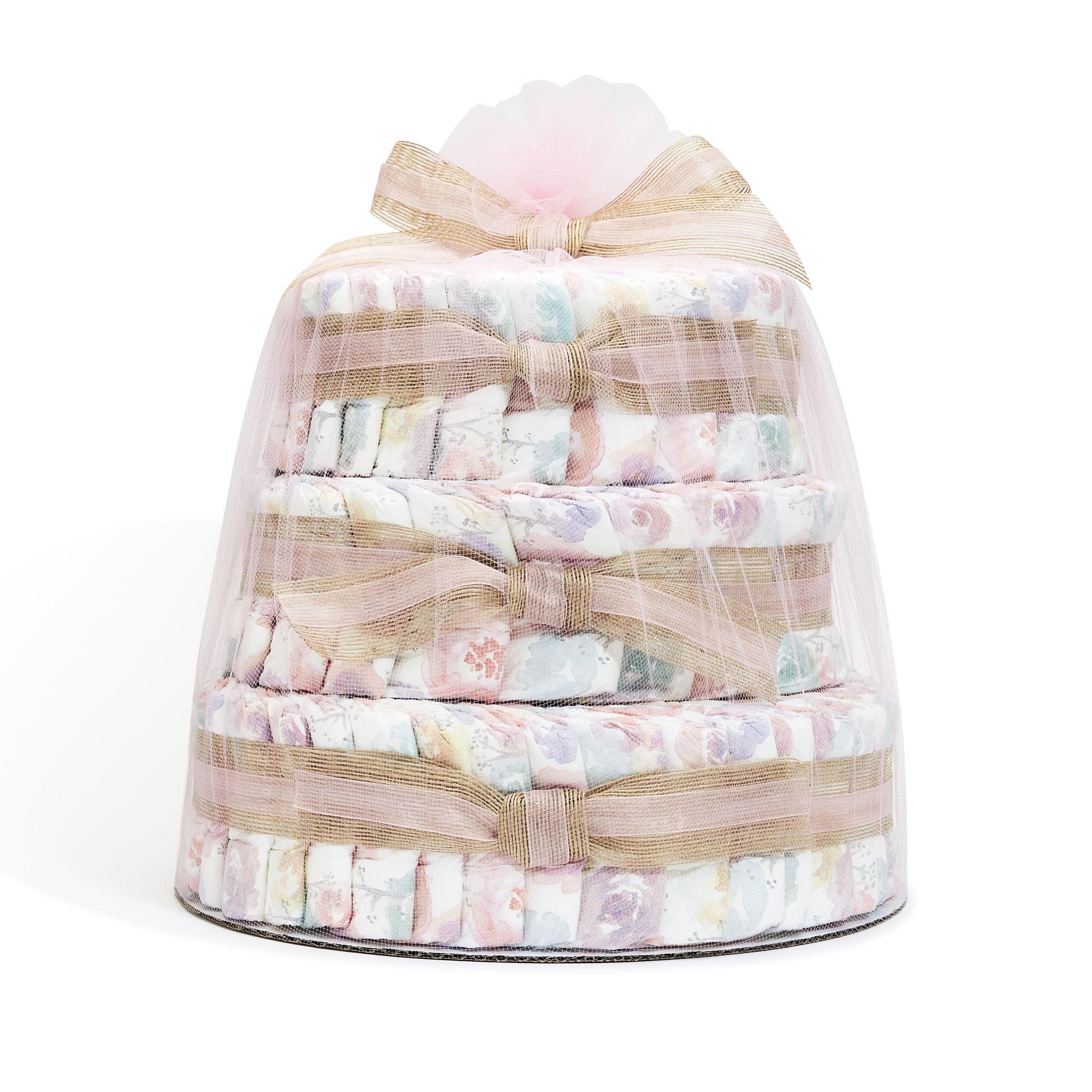 Clean Conscious Diaper Cake, Rose Blossom