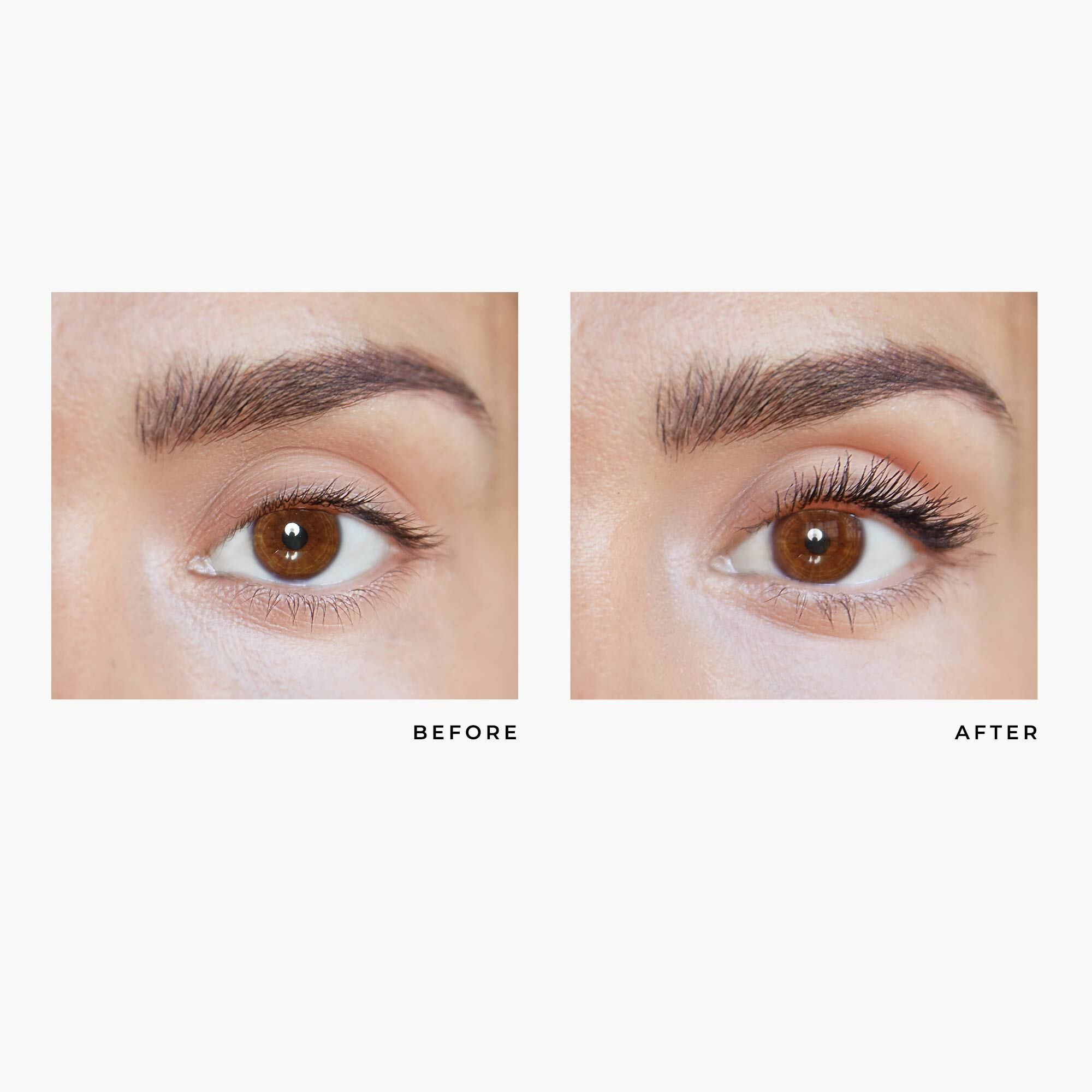 mefore and after image of mascara
