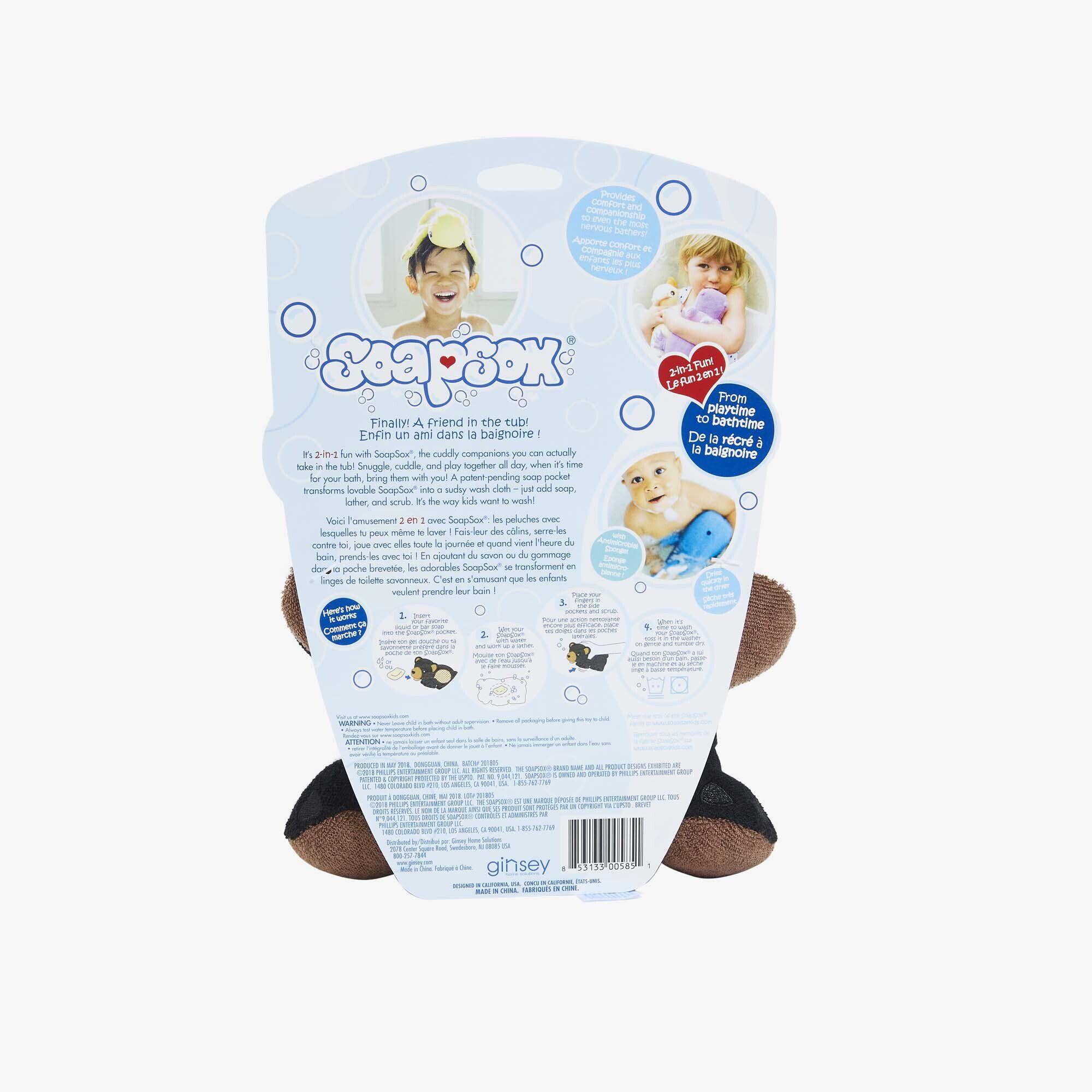 Bailey the Bear SoapSox Bath Sponge