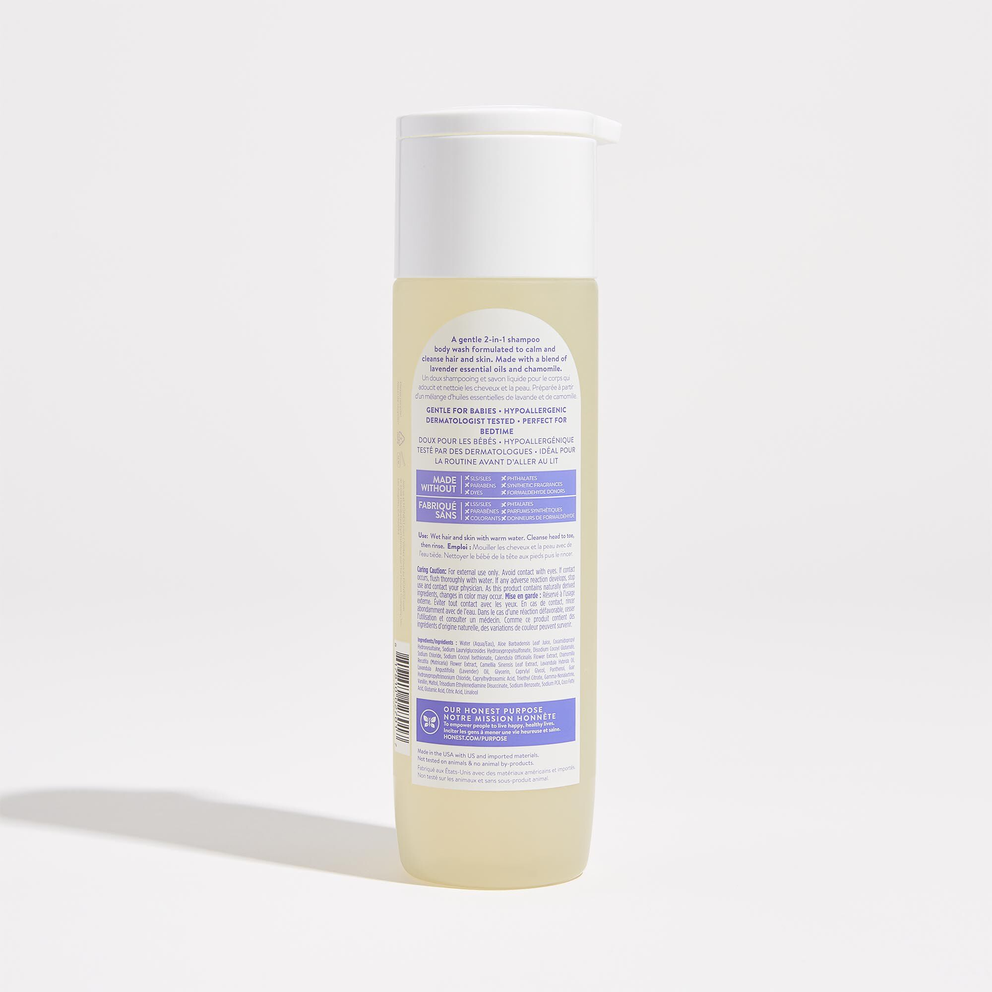 Lavender Field Scented Shampoo and Body Wash Back of Product