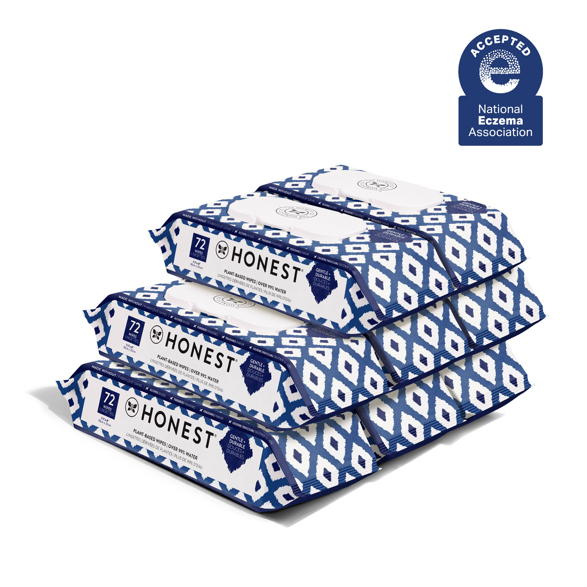 Blue Ikat, 576 Count Wipes