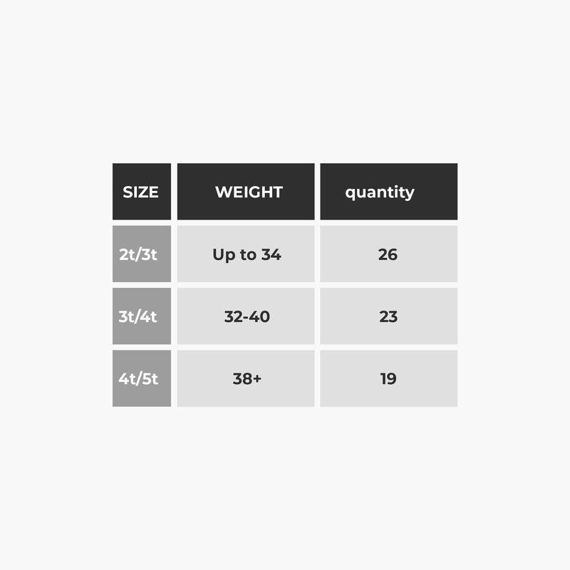 Training Pants Size Chart