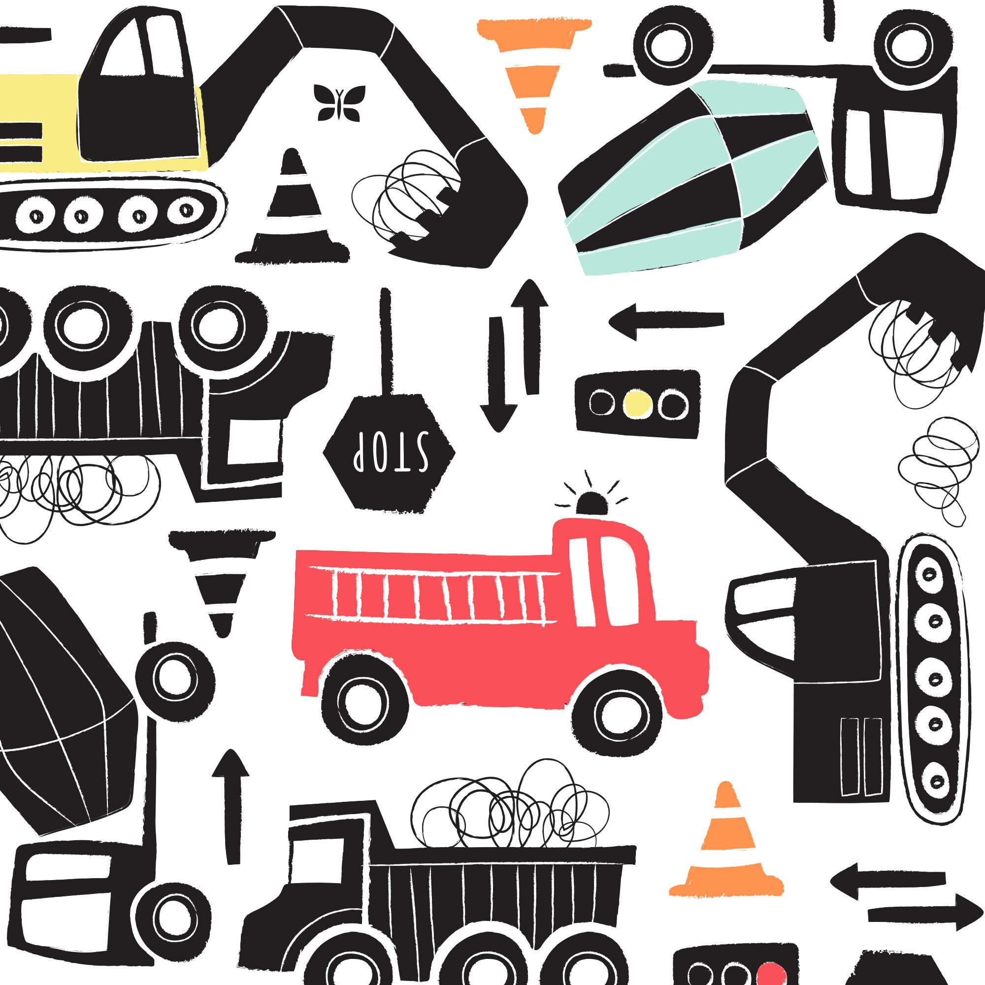 Clean Conscious Diaper, Big Trucks, Size 6