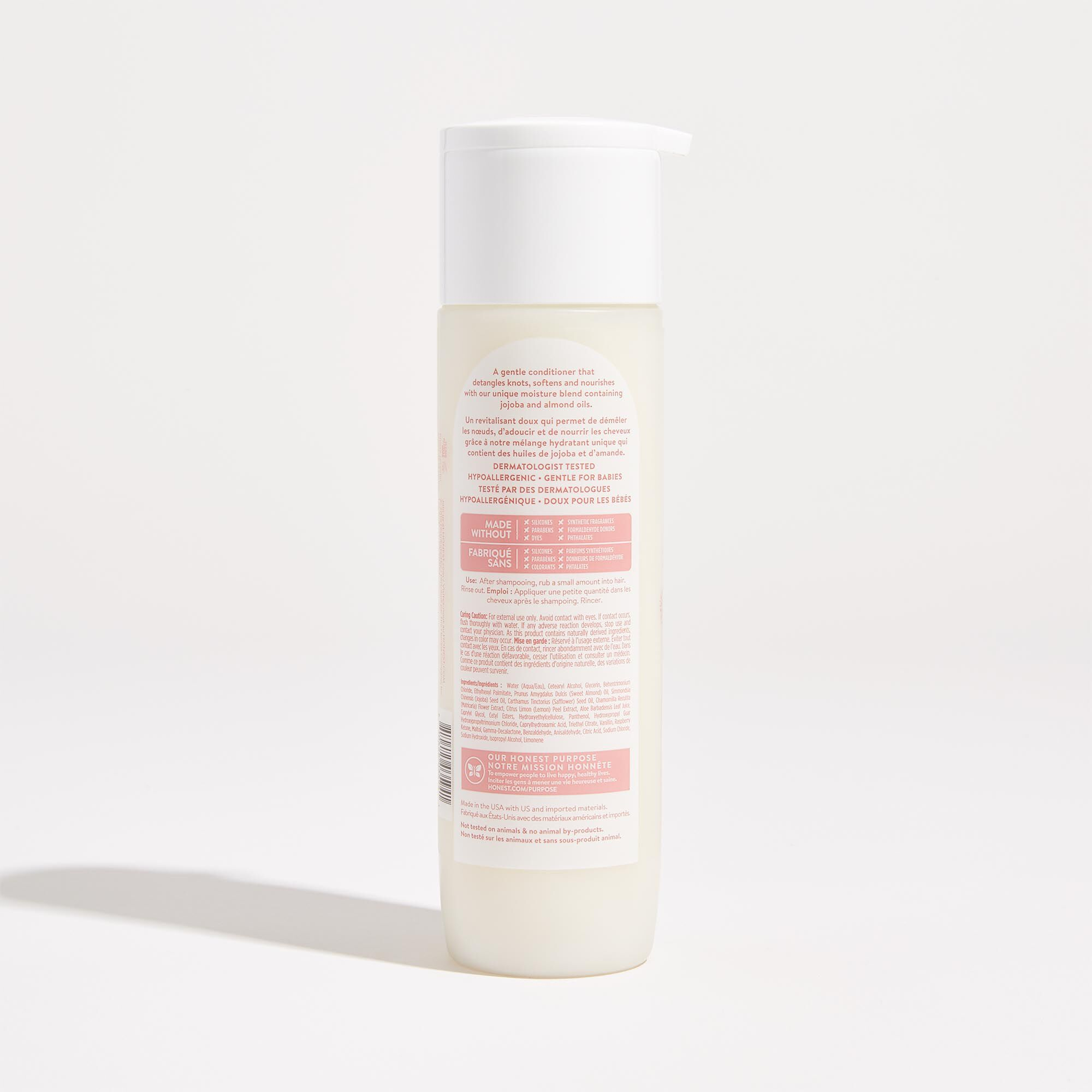Sweet Almond Scented Conditioner Back of Product