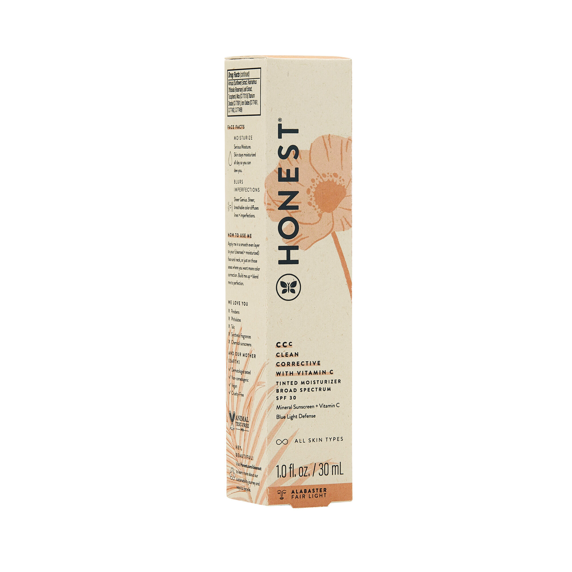 CCC Clean Corrective With Vitamin C Tinted Moisturizer Broad Spectrum SPF 30, Alabaster