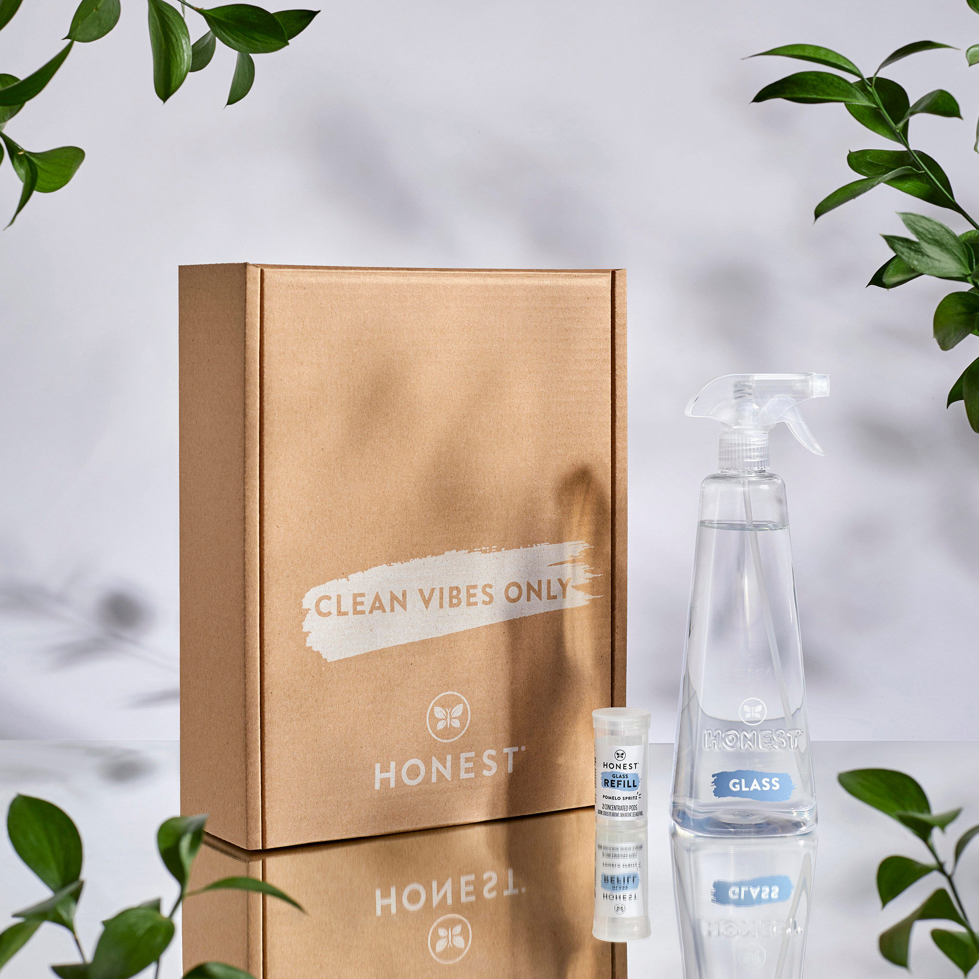 Glass Refillable Cleaning Kit