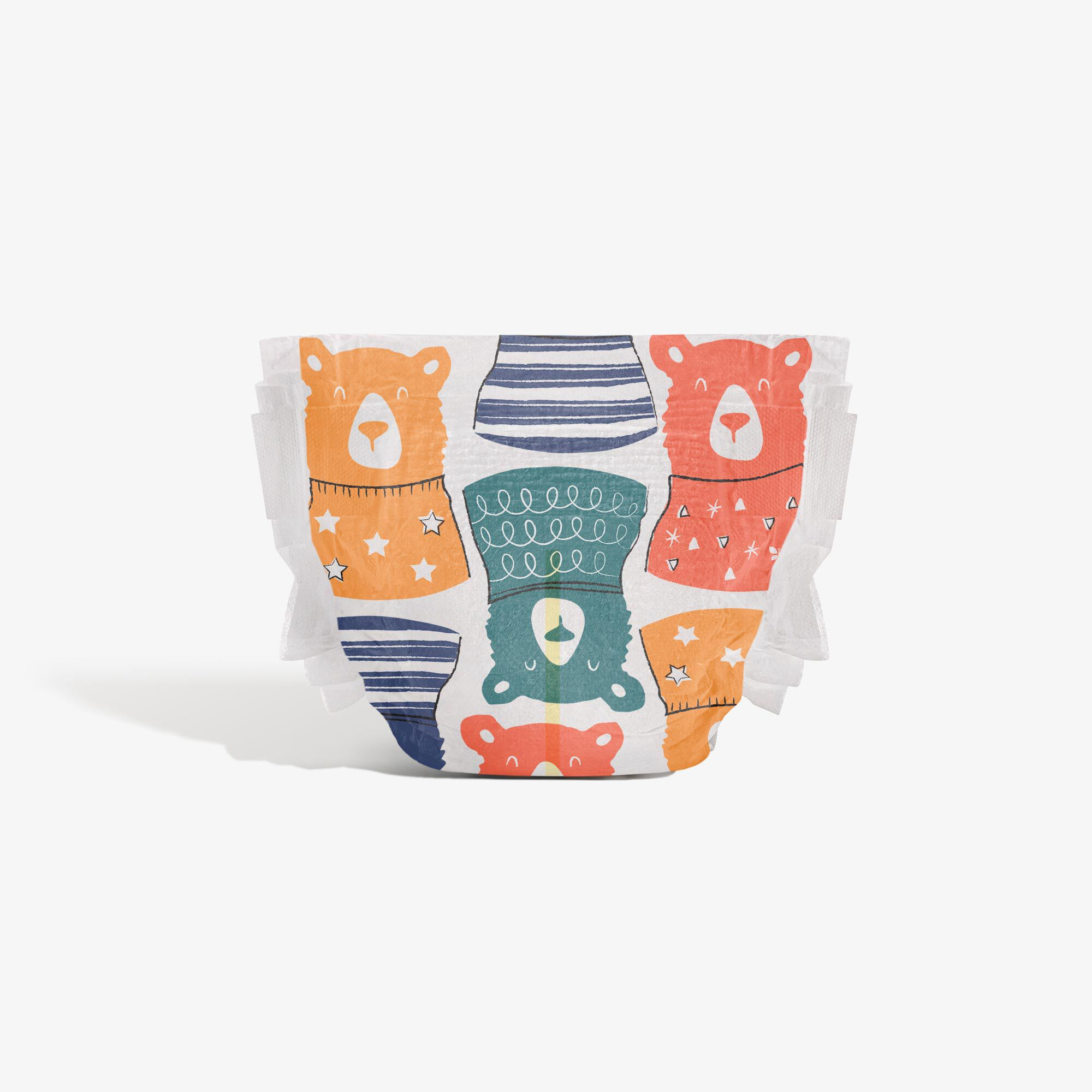 Clean Conscious Diaper, Beary Cool, Size 5