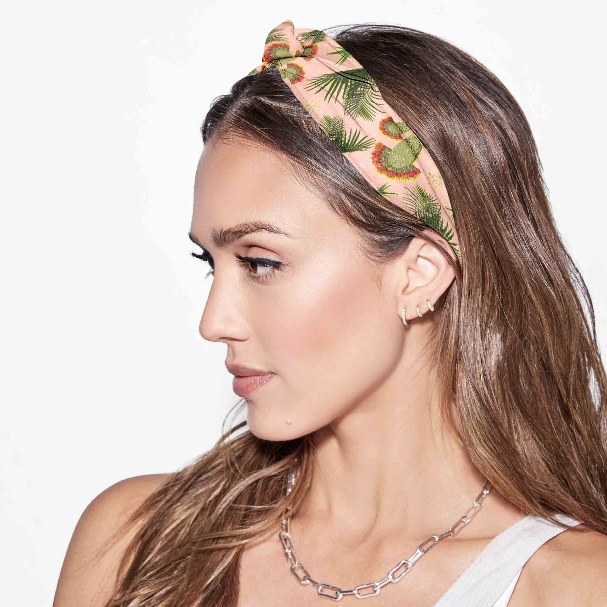 Jessica's Fave Twist Headwrap, Palm Print