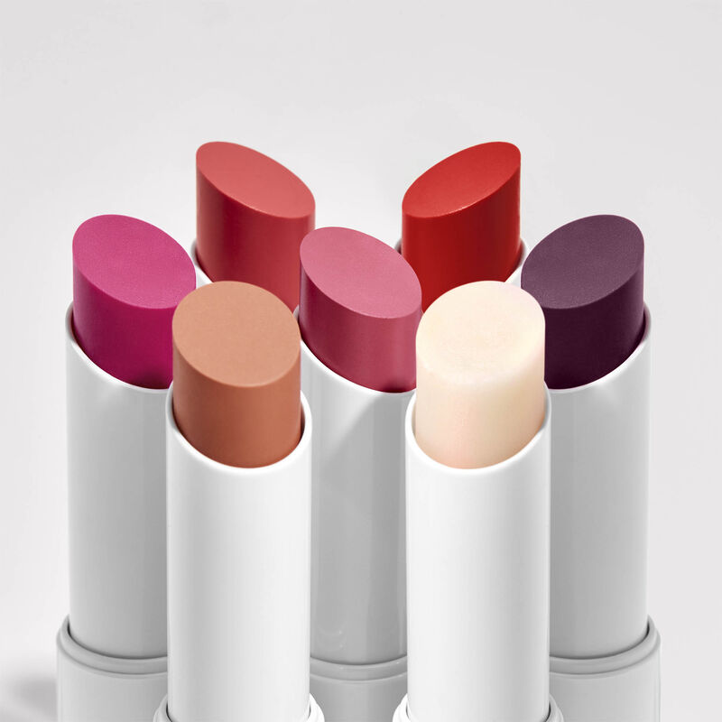group of all tinted lip balms