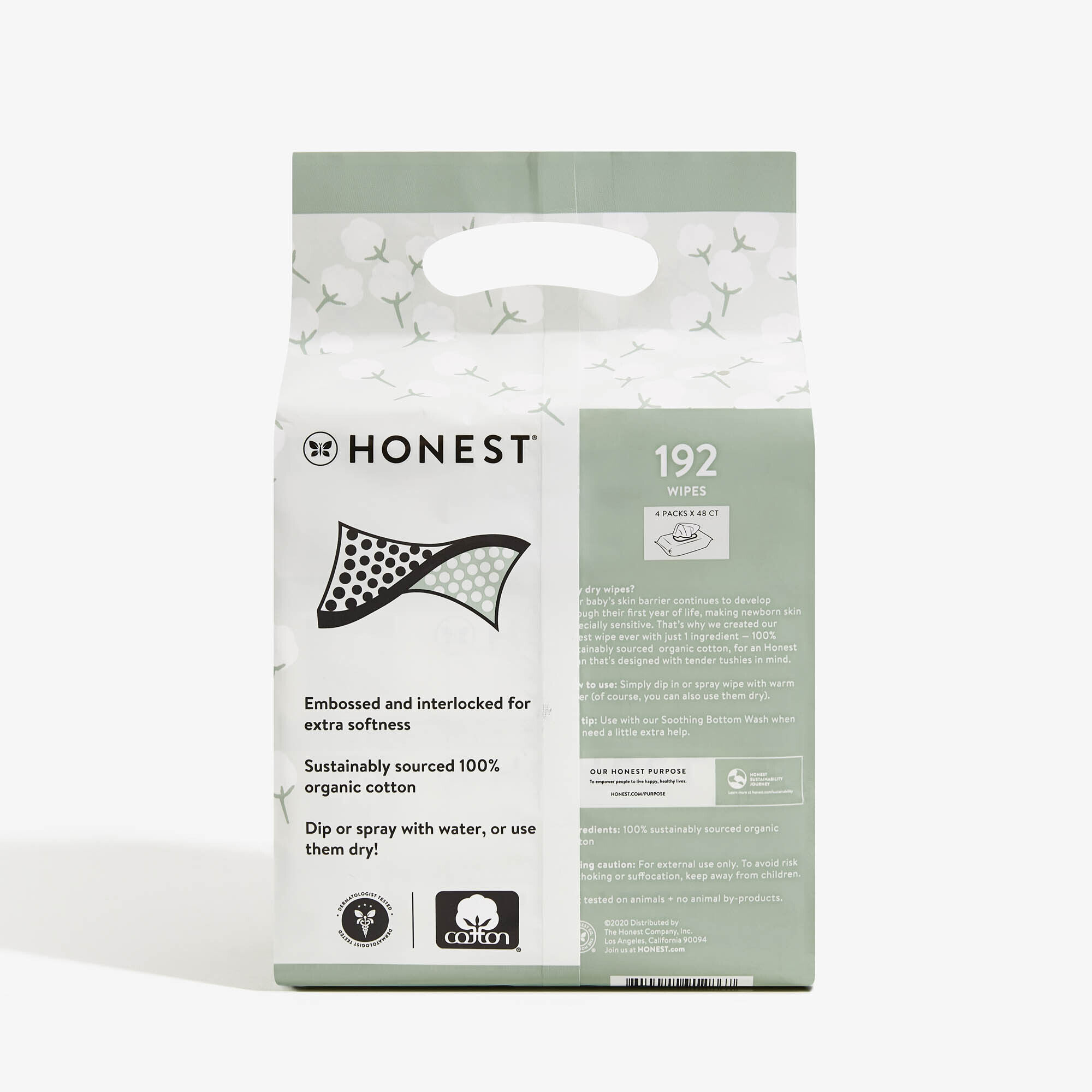 Honest Dry Wipes, 192 Count