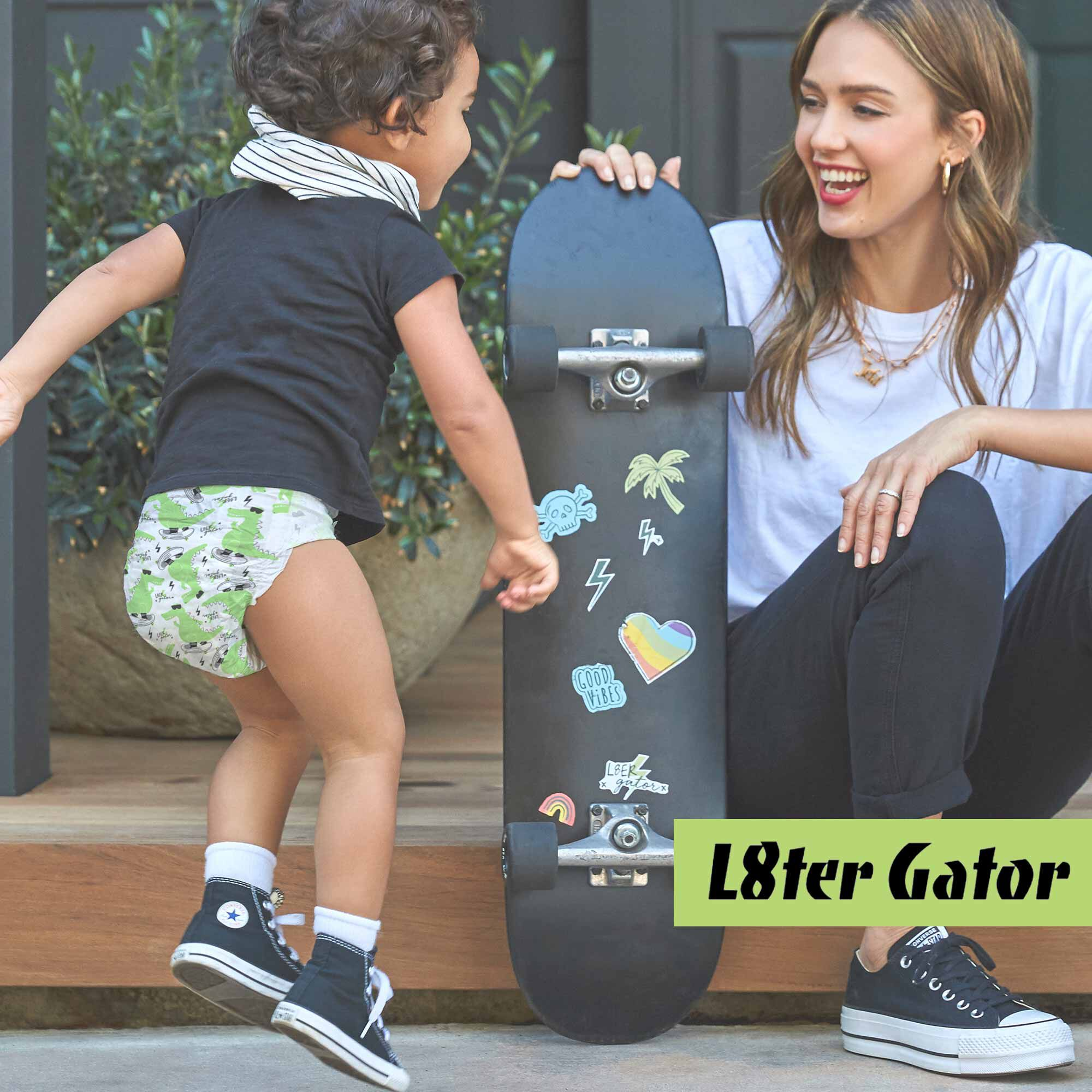 l8ter gator diaper print