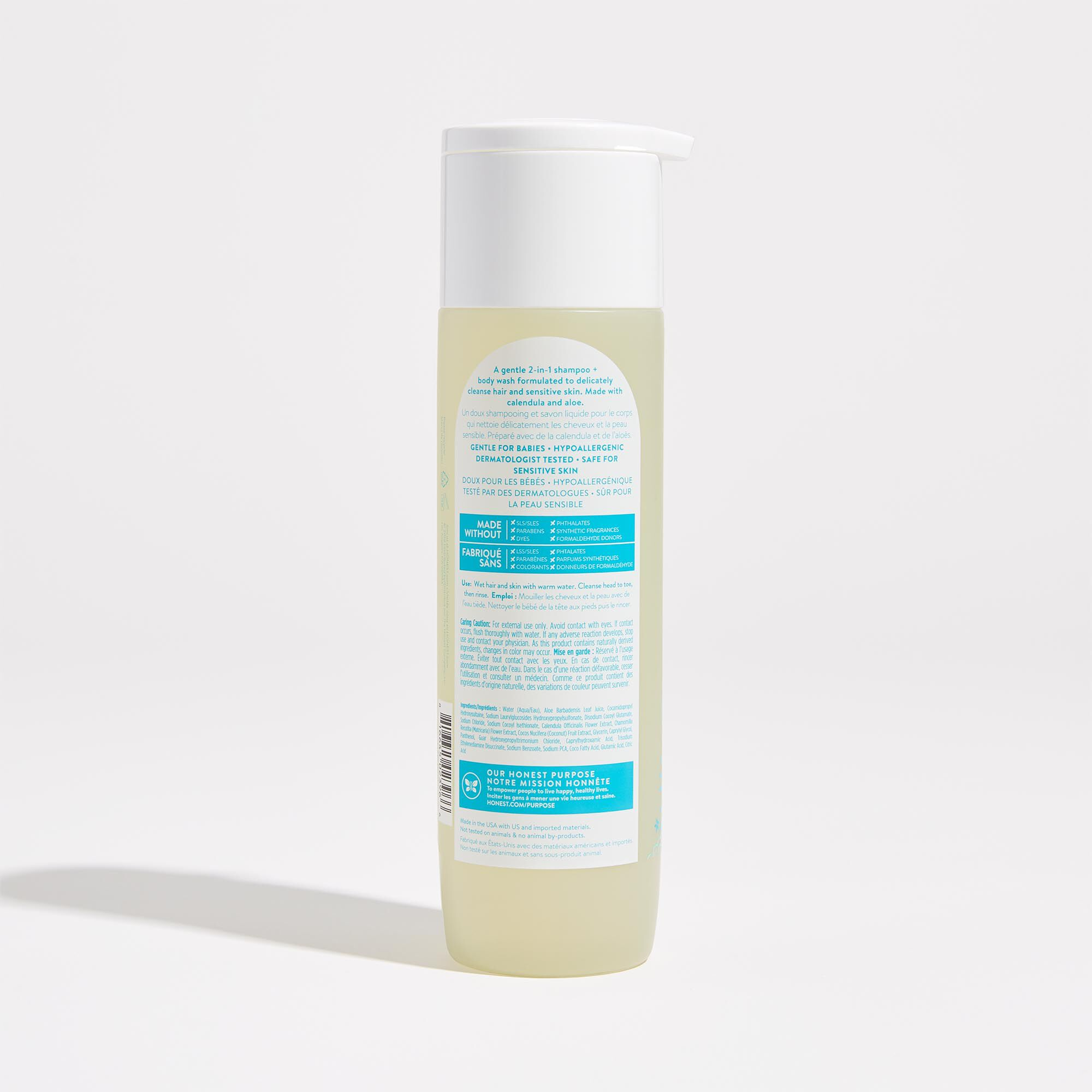 Fragrance Free Scented Shampoo and Body Wash Back of Product