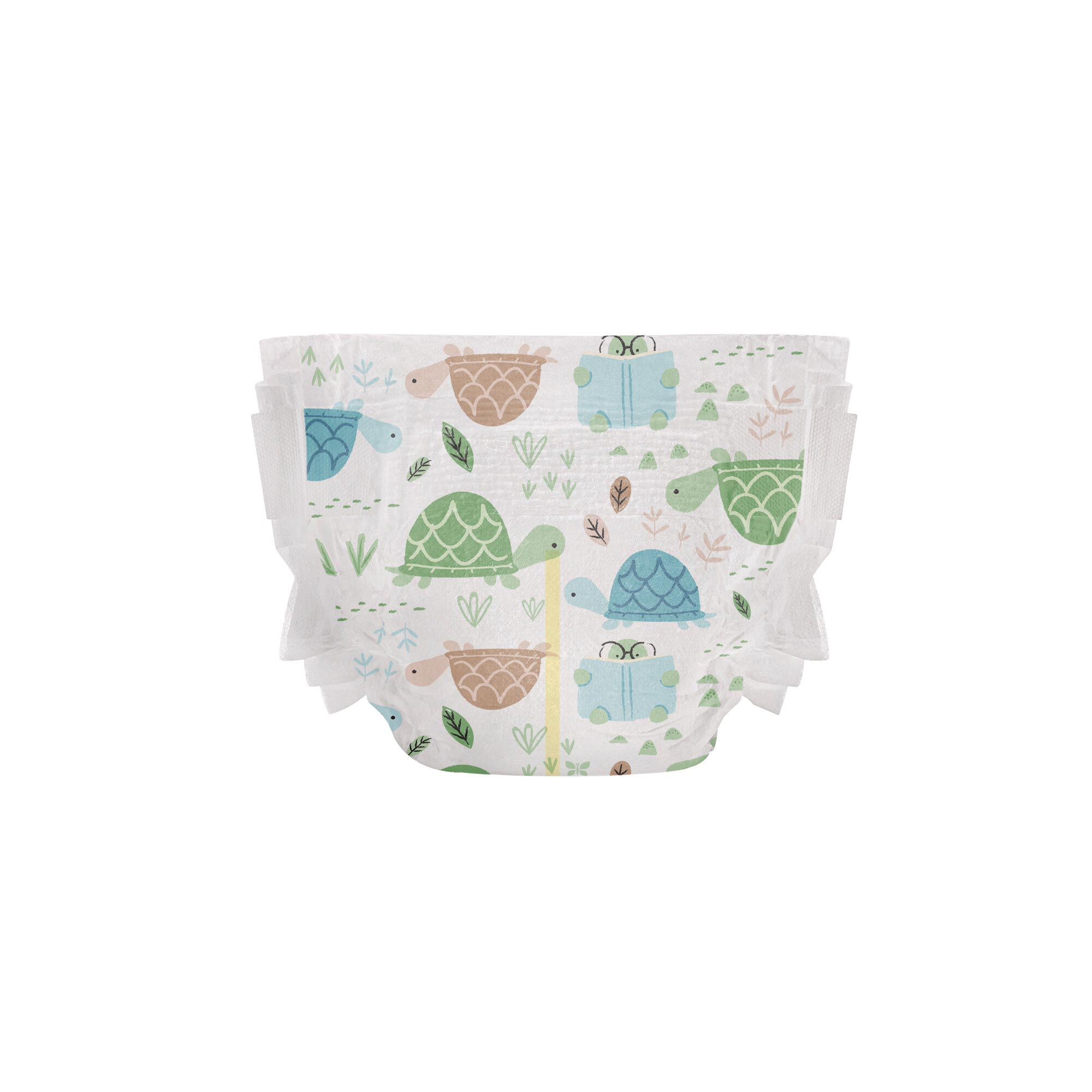 Clean Conscious Diaper, Turtle Time, Size 2