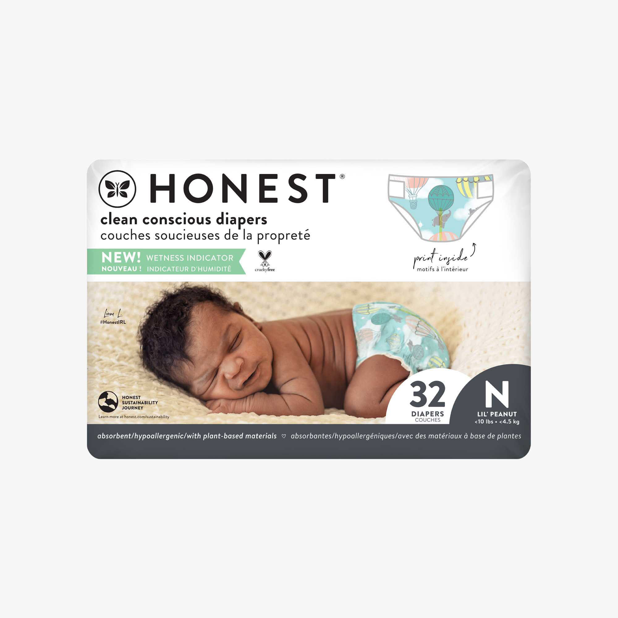 Clean Conscious Diaper, Above It All, Size NB