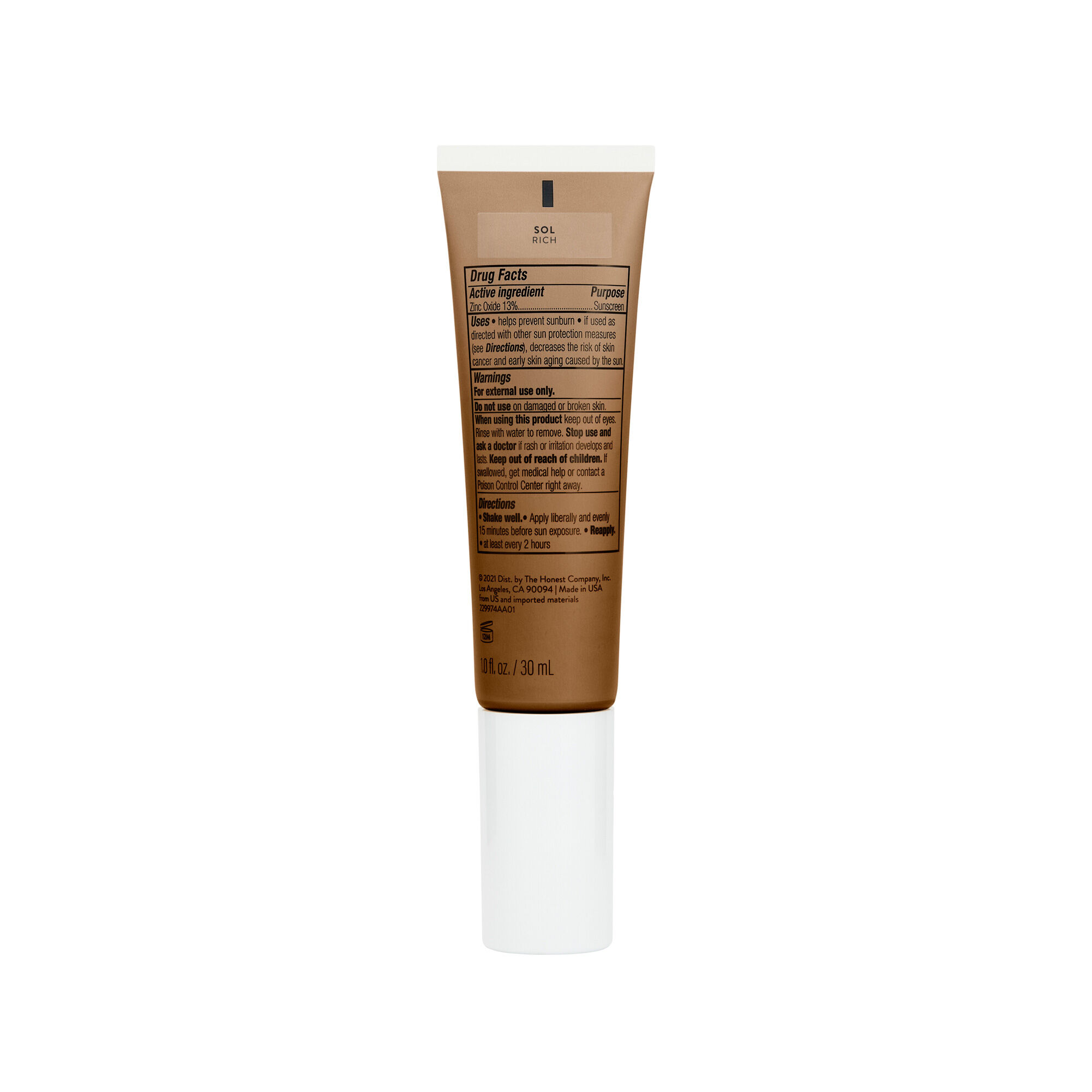 CCC Clean Corrective With Vitamin C Tinted Moisturizer Broad Spectrum SPF 30, Sol
