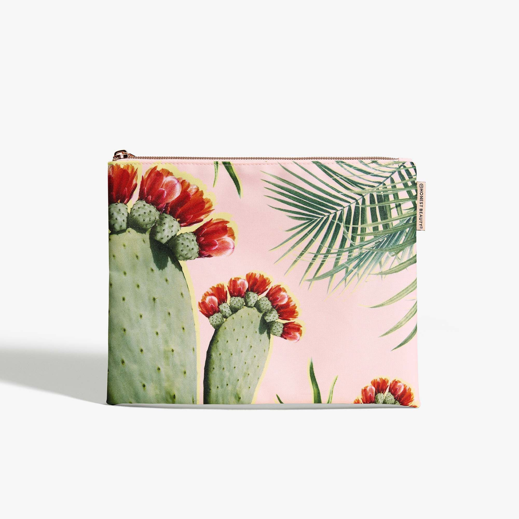 Palm Print Beauty Bag, Medium