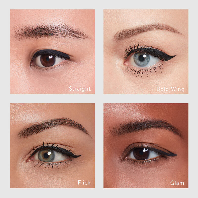 eyeliner on multiple skin tones