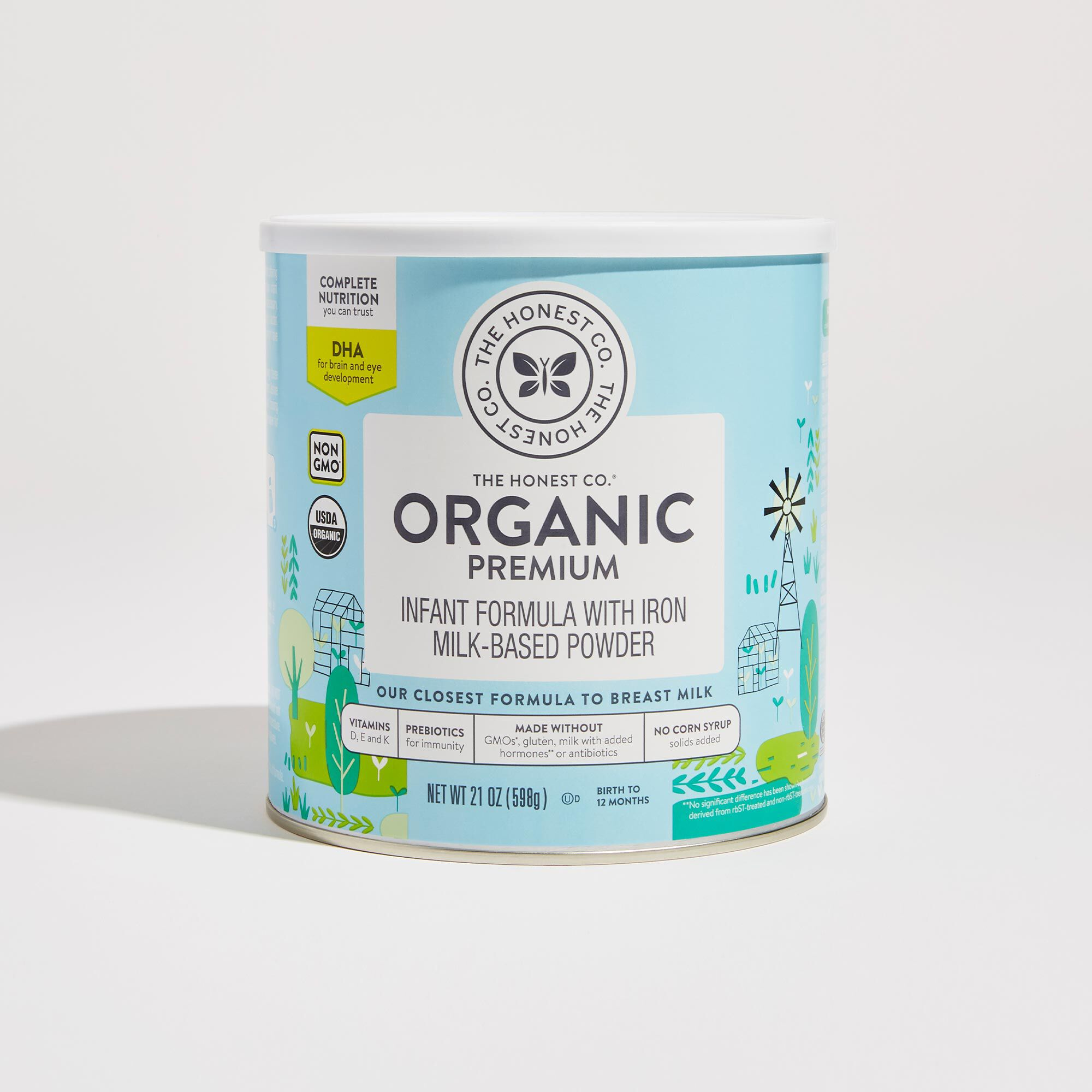 21 ounce of Organic Premium Infant Formula in Container