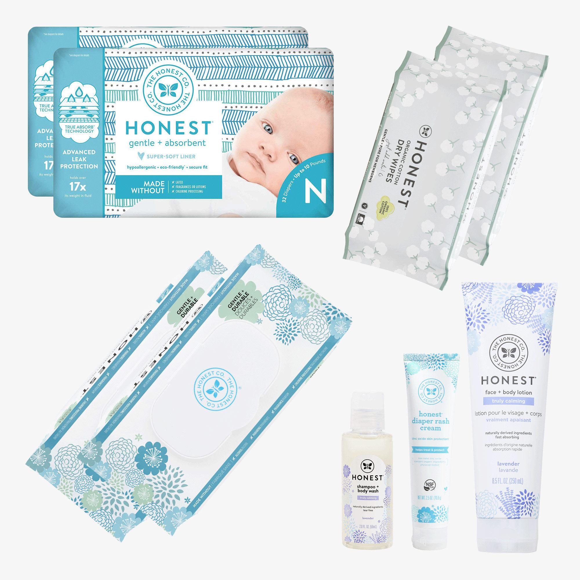 Newborn Diaper + Bath Essentials