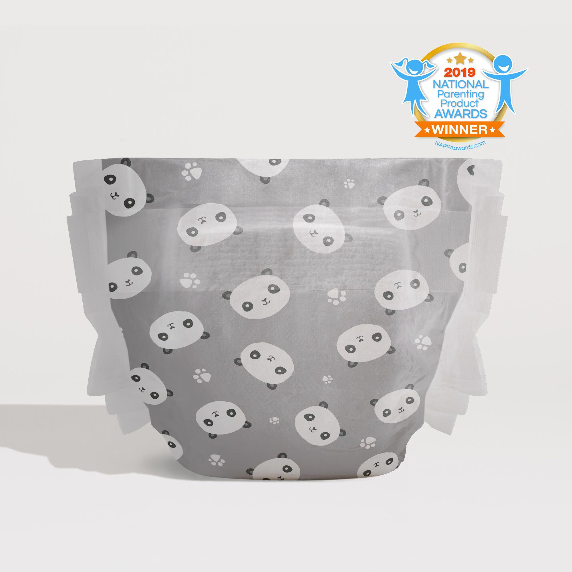 honest diaper with 2019 national parenting product award seal