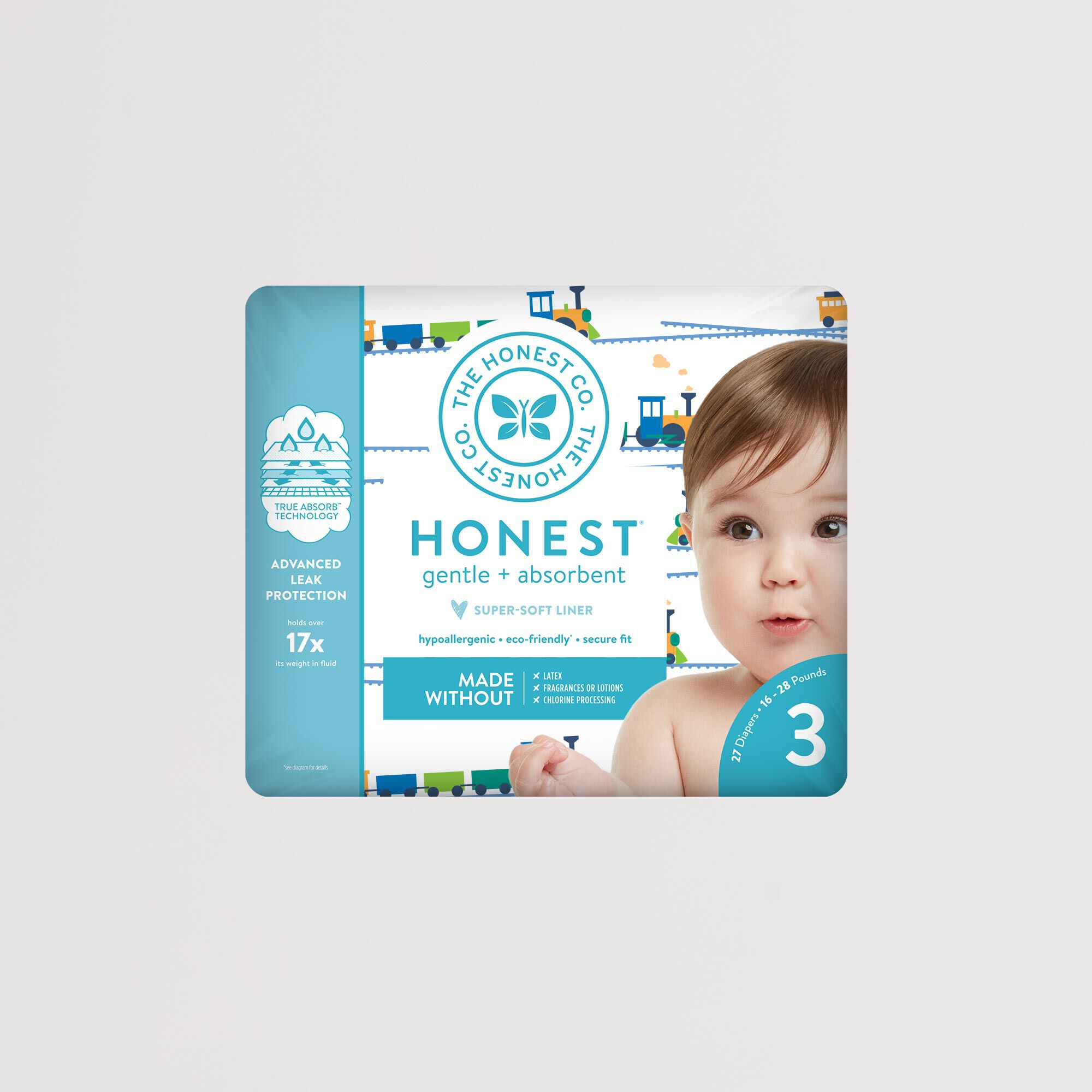 Diapers, Trains, Size 3