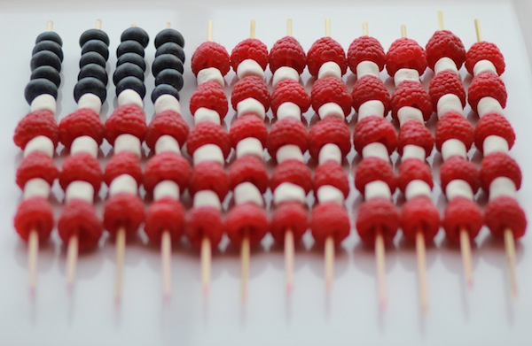 Naturally Red, White + Blue Fourth of July Food