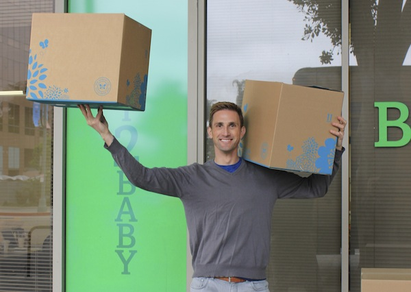 Christopher Carries Boxes to Baby2Baby