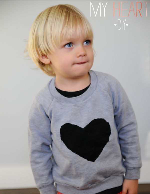 DIY Heart Sweatshirt for Valentine's Day