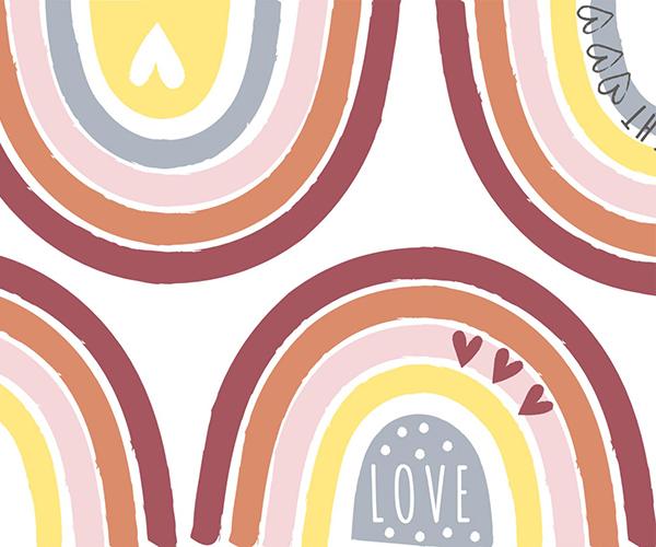 Rainbow Print Texture