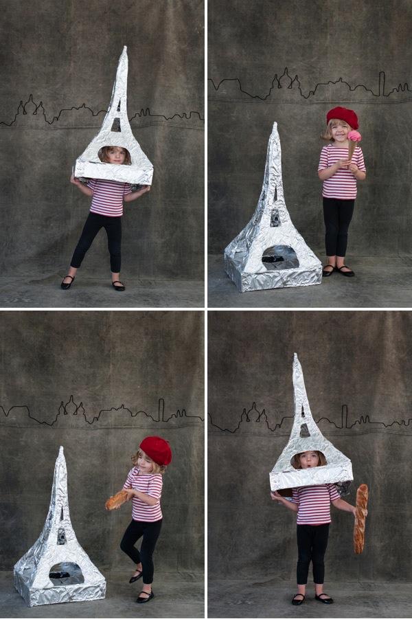 Jordan Ferney's Eiffel Tower Costume via Oh Happy Day