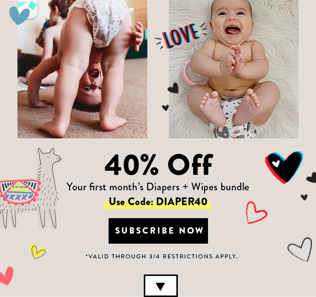 Get 40% Off Your First Diaper Bundle. Use code: DIAPER40. Shop Now