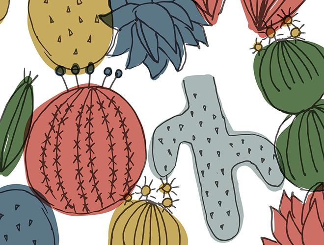 Cactus Cuties Print Texture
