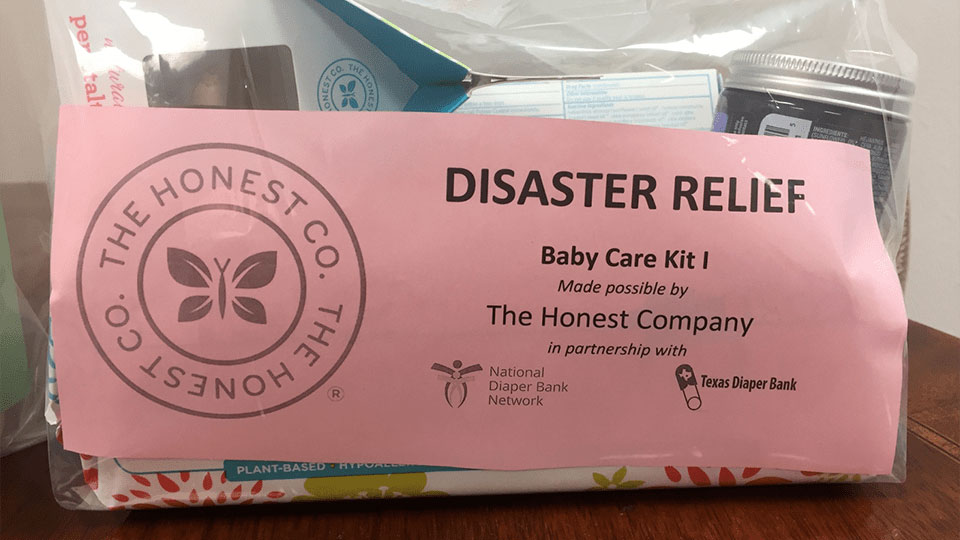 Texas Diaper Bank Builds Disaster Relief Kits
