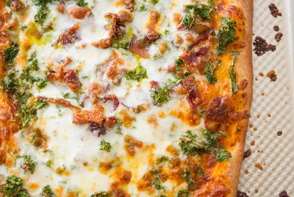 Pizza Party! DIY Pizza with Nut-Free Pesto (+video)