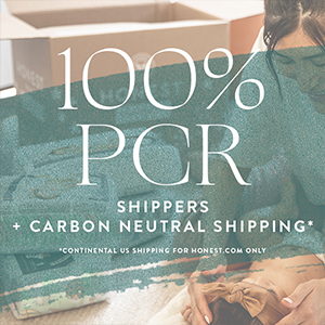 100% PCR shippers + carbon neutral shippers