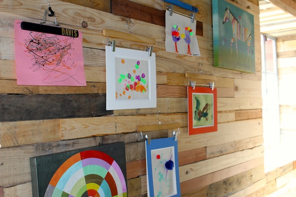 Use Hangers to Create a Gallery Wall
