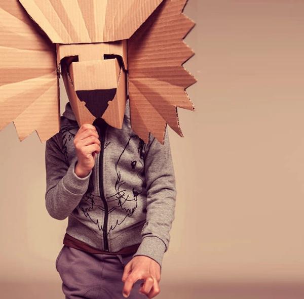 Lion Cardboard Mask