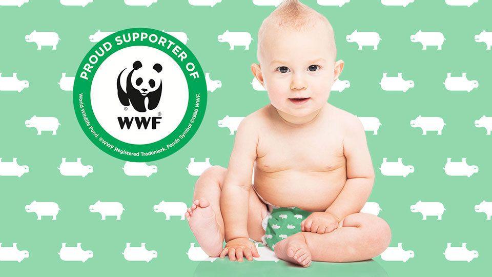 Hippo Diaper supports WWF