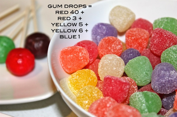 colored gum drops