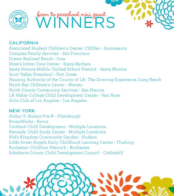 Honest to Goodness: Growing Healthy Kids (+ Farm to Preschool Grant Winners!)