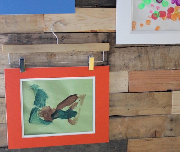 Use Old Photo Mats to Display Children's Artwork