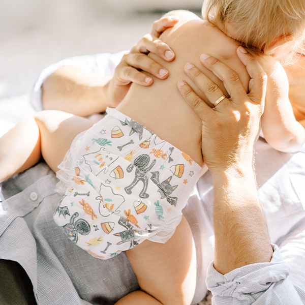 Babies wearing Honest Clean Conscious Diapers