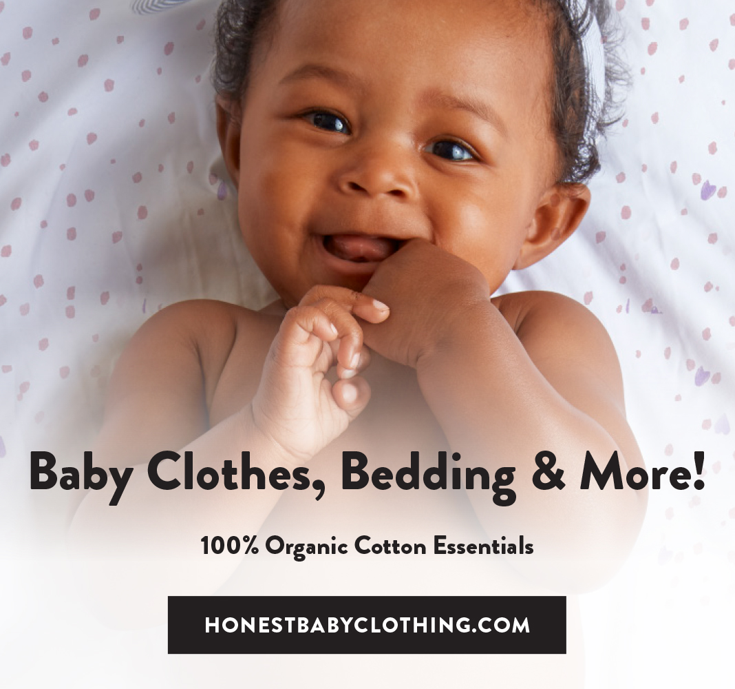 Our Newest Arrival. Honest Baby Clothing. Visit HonestBabyClothing.com to Shop Now