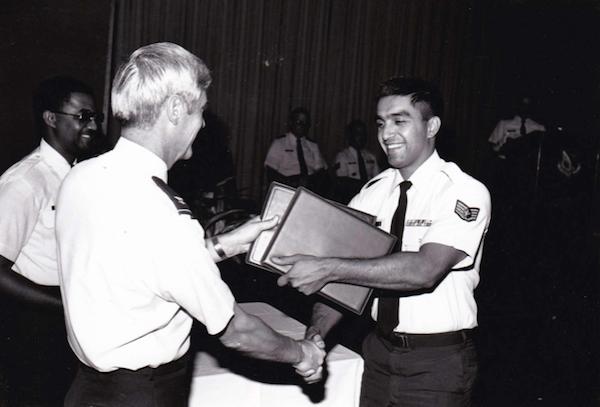 Jessica's Dad Receiving NCO Award